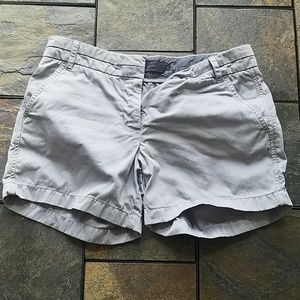 100% Cotton J. Crew Chino Shorts in Grey Size 8
